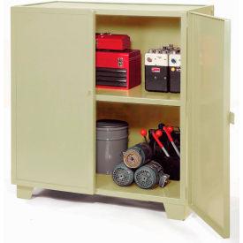 "Jamco Extra Heavy Duty Storage Cabinet MH448-AP - Welded 12 Gauge 48""W x 36""D x 54""H Putty"