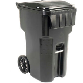 Otto Mobile Trash Container, 95 Gallon Black - 9956060F-B52