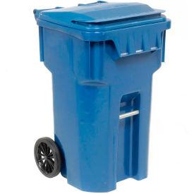 Otto Mobile Trash Container, 65 Gallon Blue - 6954444F-B42