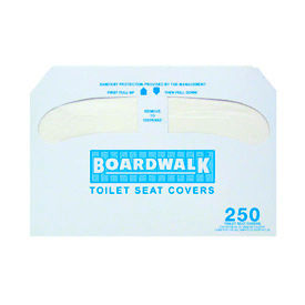 Boardwalk Premium 1/2 Fold Toilet Seat Covers, 250 Covers/Sleeve 20/Case - Bwk K5000 - BWKK5000