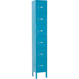 Infinity™ Locker Six Tier 12x12x12 6 Door Assembled Blue