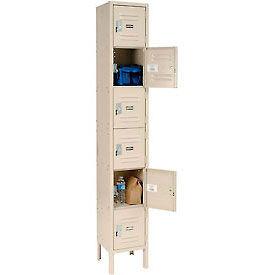 Infinity™ Locker Six Tier 12x12x12 6 Door Assembled Tan