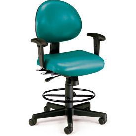 Stool With Arms Green