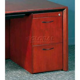 2 Drawer Pedestal For Desk In Dark Cherry - Veneer Series