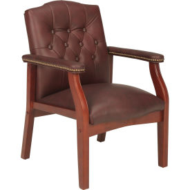 Mid Back Leather Office Chair Oxblood