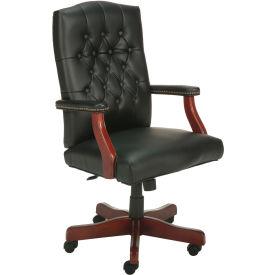 Vinyl High Back Office Chair Black