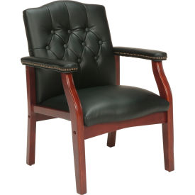 Vinyl Mid Back Office Chair Black