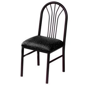 Vinyl Cafe Chair Black