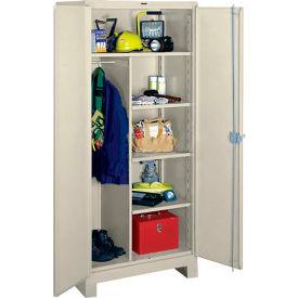 Lyon Heavy Duty Combination Storage Cabinet PP1148 - 48x24x82 - Putty