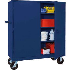 Lyon Heavy Duty Mobile Storage Cabinet BB1170 - 60x24x68 - Blue