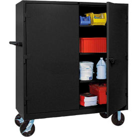 Lyon Heavy Duty Mobile Storage Cabinet 60x24x68 - Black
