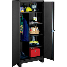 Lyon Heavy Duty Combination Storage Cabinet KK1148 - 48x24x82 - Black