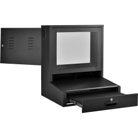 Global Industrial™ LCD Counter Top Security Computer Cabinet, Black