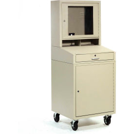 Mobile Security LCD Computer Cabinet Enclosure - Putty
