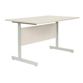 """Interion® Height Adjustable Computer Desk/Table, 36""""W x 24""""D x 26""""- 28""""H, Gray"""