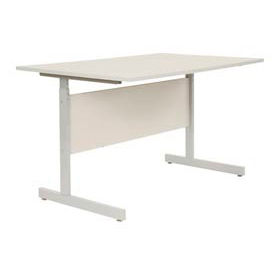 """Interion® Height Adjustable Computer Desk/Table, 48""""W x 30""""D x 26""""- 28""""H, Gray"""