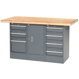 "60""W x 30""D Shop Top 7 Drawer/1 Cabinet Workbench"