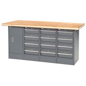 12 Drawer/Cabinet Workbench-Shop Top