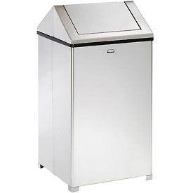 Rubbermaid® 40 Gallon Square Stainless Steel Waste Receptacle, FGT1940SSRB