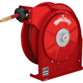"""Reelcraft 5635 OLP 3/8""""x35' 300 PSI Premium Duty All Steel Spring Retractable Compact Hose Reel"""