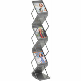Double Sided 6 Pocket Portable Literature Display
