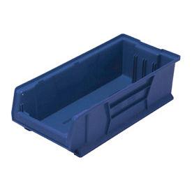 Quantum Hulk Plastic Stacking Bin QUS952BL 11 x 23-7/8 x 7 Blue - Pkg Qty 4