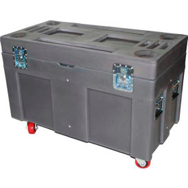 """Myton Shipping Container and Site Box RC-4524H4 with Casters - 45""""L x 22""""W x 31""""H, Bleu"""