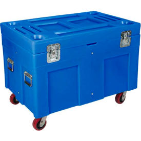 """Myton Shipping Container and Site Box RC-4534H5 with Casters - 45""""L x 30""""W x 34""""H, Yellow"""