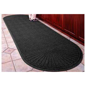 "Waterhog Grand Classic Mat Two Oval 3'W X 11'8""L Charcoal"
