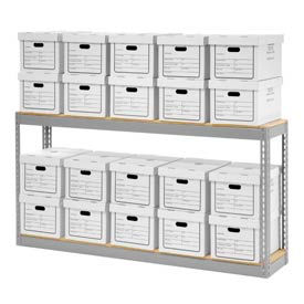 """Record Storage With Boxes 72""""W x 15""""D x 36""""H"""