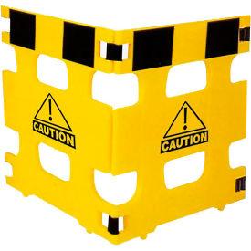 "Folding Plastic Barricade Set Of 3 Panels Open 111""L X 36""H X 1-1/4"" Thick"