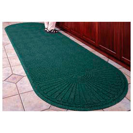 "Waterhog Grand Classic Mat Two Oval 6'W X 14'10""L Green"