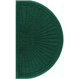 "Waterhog Grand Classic Mat Half Oval 3'W X 1'10""L Green"