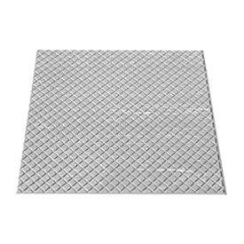 """Rubber Tile Diamond Pattern 24""""W X 24""""L Light Gray"""