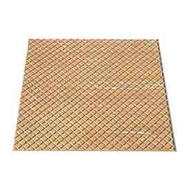 "Rubber Tile Diamond Pattern 24""W X 24""L Beige - Pkg Qty 3"