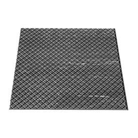"""Rubber Tile Diamond Pattern 24""""W X 24""""L Charcoal - Pkg Qty 3"""