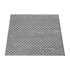 """Rubber Tile Diamond Pattern 24""""W X 24""""L Slate - Pkg Qty 3"""