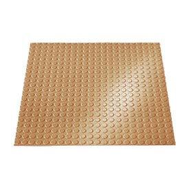 "Rubber Tile Round Disc Pattern 24""W X 24""L Beige - Pkg Qty 3"