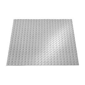 "Rubber Tile Round Disc Pattern 24""W X 24""L Light Gray - Pkg Qty 3"