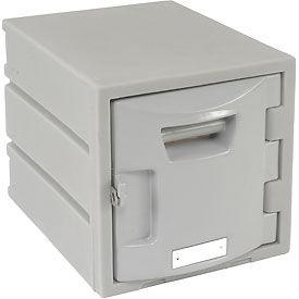 Box Plastic Locker for 6-Tier - Flat Top 12 X 15 X 12 Gray