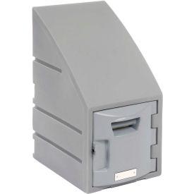 Box Plastic Locker for 6 Tier - Sloped Top 12 X 15 X 23 Gray