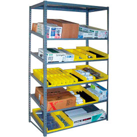 """Sloped Flow Shelving Add-On 48""""W x 18""""D x 84""""H Gray"""