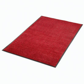 Plush Super Absorbent Mat 6'W Cut Length Up To 60ft. Red-Black