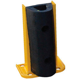 """Steel Rack Guard With Rubber Bumper 5.5""""Wx3.75""""Dx12""""H"""