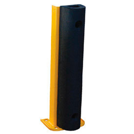 """Steel Rack Guard With Rubber Bumper 5.5""""Wx3.75""""Dx24""""H"""