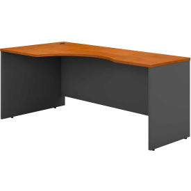 "Bush Furniture Left Corner Desk - 72"" - Natural Cherry"
