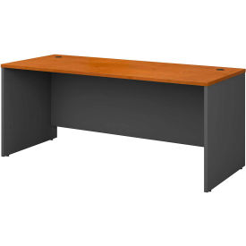 Managers Desk Shell In Natural Cherry - Office Furniture Groupings