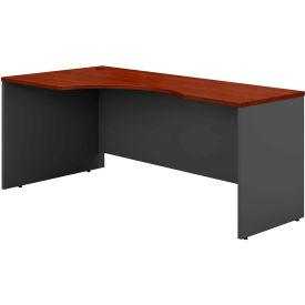Left Corner Desk In Hansen Cherry - Office Furniture Groupings