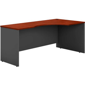 Right Corner Desk In Hansen Cherry - Office Furniture Groupings