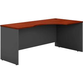 Right Corner Desk In Hansen Cherry - Office Furniture Groupings